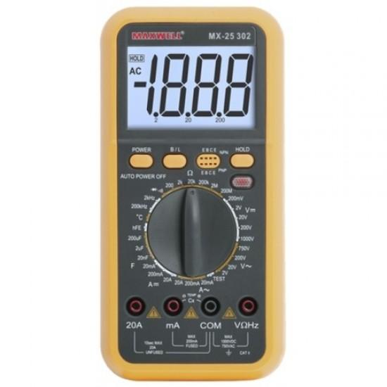 Digitális multiméter feszültség kereséssel (GE-MX 25302)