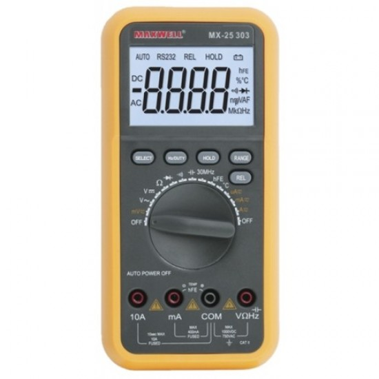 Digitális multiméter hőmérséklet méréssel (GE-MX 25303)